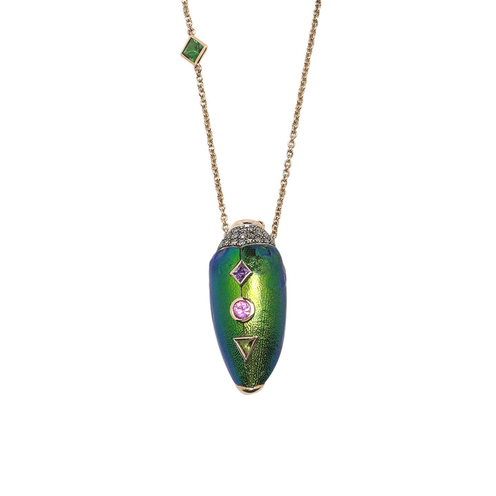 Scarab Pop Art Necklace