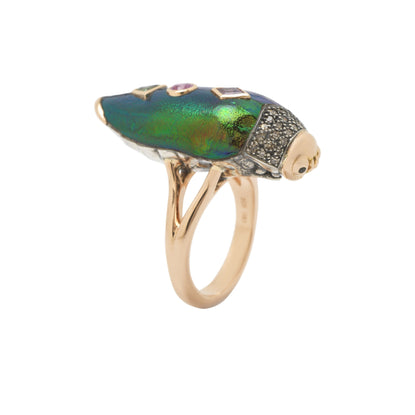 Scarab Pop Art Ring