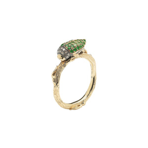 Scarab Ring Green