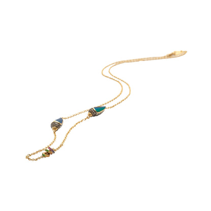 Short Scarab Rainbow Necklace