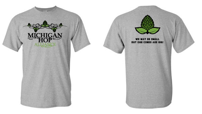 02ee76cc43ab1 MHA Mens T-Shirt MADE IN THE USA! FREE SHIPPING! – Michigan Hop Alliance