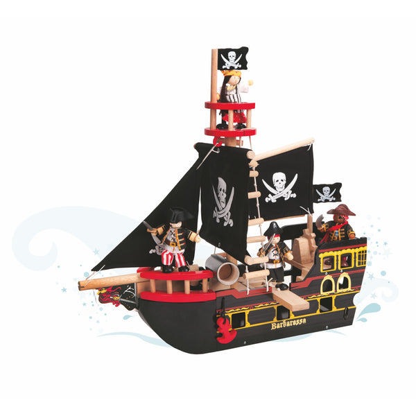 Barbarossa Piraten Schiff - Le Toy Van - ToysOnline