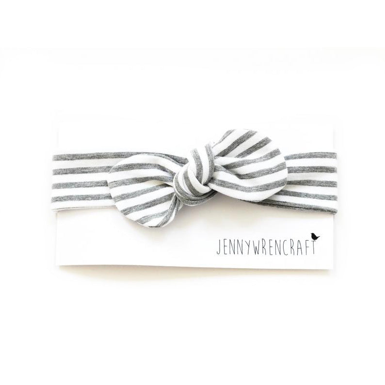 Grey stripe headband