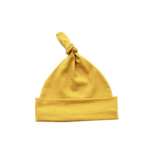 Load image into Gallery viewer, Mustard knot hat