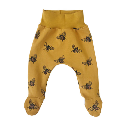 Mustard bee footed leggings