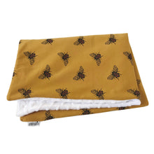 Load image into Gallery viewer, Mustard bee pram blanket