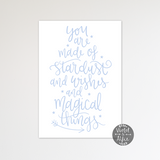 Stardust, wishes, magical things print