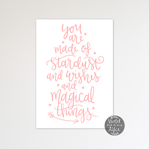 Stardust, wishes, magical things print - Violet and Alfie