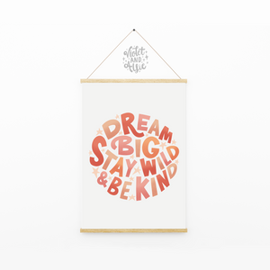 Be brave, be silly, be kind print - Violet and Alfie