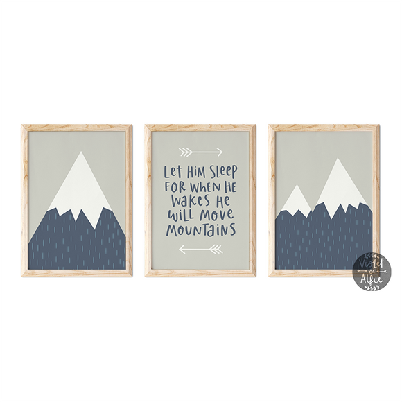 Let him sleep print set - Violet and Alfie