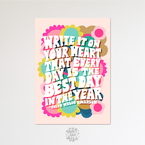 Home Sweet Home print, Unframed, Black and white home decor