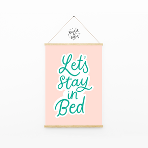 Home is wherever I'm with you print, Bedroom wall art - Violet and Alfie
