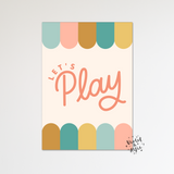 Cloud moon star prints, sleepy face cloud print, Set of 3 prints uk, pink nursery prints