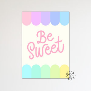 Rainbow nursery set of 3 prints - Violet and Alfie
