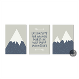 Let him sleep print set