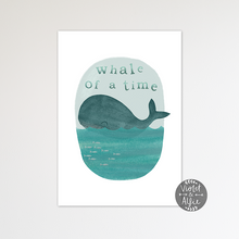 Load image into Gallery viewer, Nautical Nursery Whale Print - Violet and Alfie