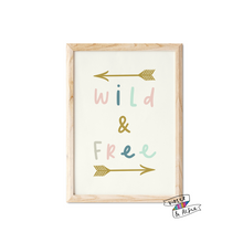 Load image into Gallery viewer, Wild and Free Print - Violet and Alfie