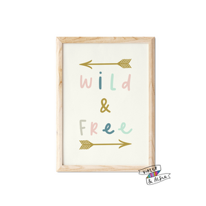 Wild and Free Print - Violet and Alfie