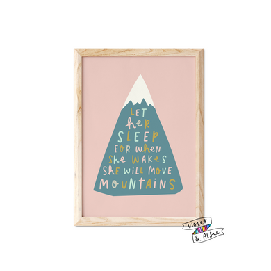 Let Her Sleep Quote Print - Violet and Alfie
