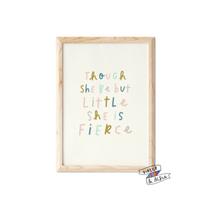 A Girl Should Be Two Things Quote Print - Violet and Alfie