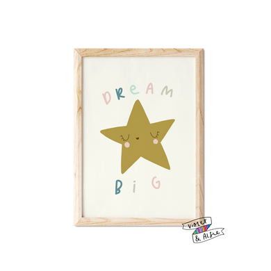 Dream Big Star Print - Violet and Alfie