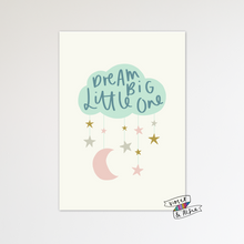 Load image into Gallery viewer, Dream Big Little One Cloud Print - Violet and Alfie