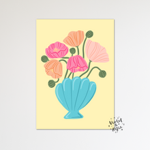 Load image into Gallery viewer, Watercolour wolf print - Violet and Alfie