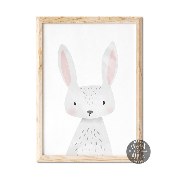 Cute Bunny Print - Violet and Alfie