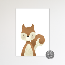 Load image into Gallery viewer, Woodland squirrel print - Violet and Alfie