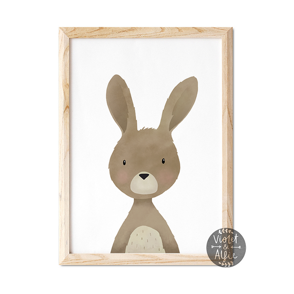 Woodland rabbit print - Violet and Alfie