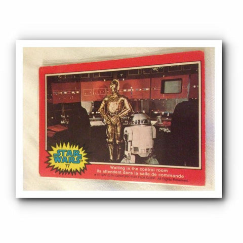 1977 Star Wars Movie Trading Card : Red No. 77 - Topps Cards - One Supplied