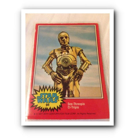 1977 Star Wars Movie Trading Card : Red No. 98 - Topps Cards - One Supplied