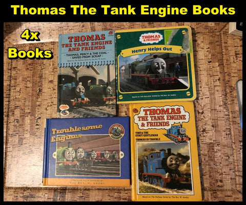 4 x Thomas The Tank Engine Books - Ladybird +More (See Photos) Used