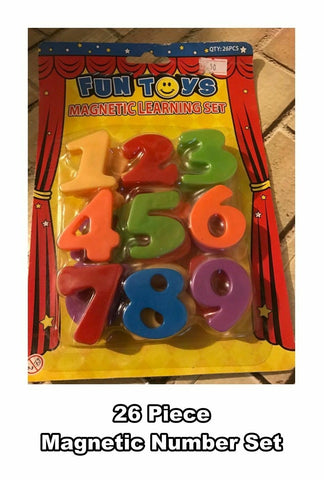 FUN TOYS MAGNETIC NUMBERS LEARNING SET - 26 PIECE SET - NEW
