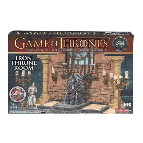 McFarlane: Game of Thrones Toy Playset - Game of Thrones Iron Throne Room Collector Construction Set New