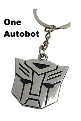 Transformers Shape Key Ring Chain Keyring: Autobot or Decepticon - New