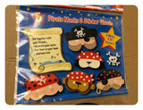 Pirate Masks & Sticker Sheet Set - 5 Masks & 62 Stickers - New