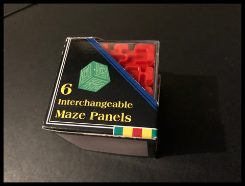 The Incredible Maze Cube 6 Interchangeable Maze Panels - Vintage Toy