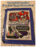 Transformers Generation One Sticker Packet (One Packet of 6 Stickers Supplied)