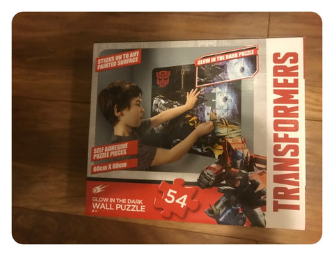 Transformers Glow In The Dark 54 Piece Wall Puzzle Jigsaw 60 x 60cm New Boxed