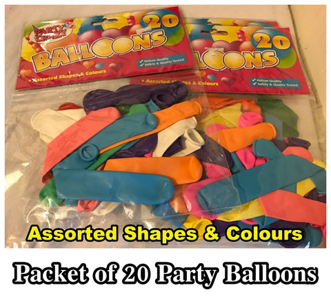20 Party Balloons Helium Quality