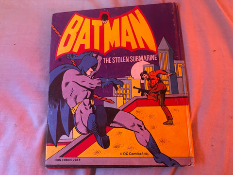 Batman The Stolen Submarine (Hardback Book 1979)