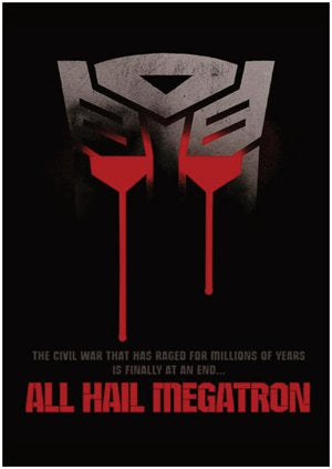 Transformers A4 Sized Poster: All Hail Megatron