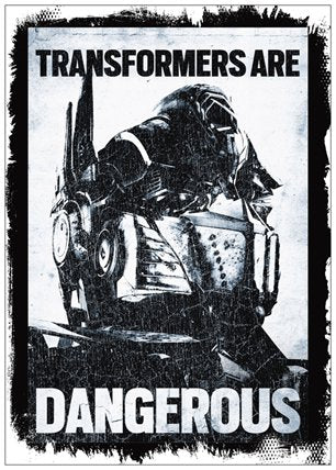 Transformers Postcard Transformers Are Dangerous A6 Size