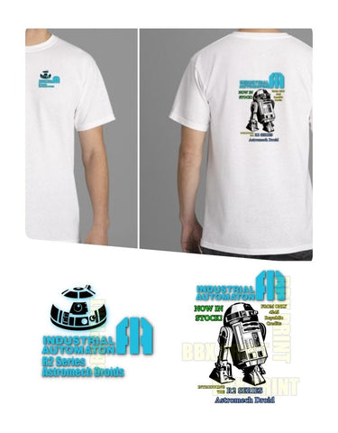 R2 Series Industrial Automaton Star Wars / R2D2 100% Cotton T-Shirt - New