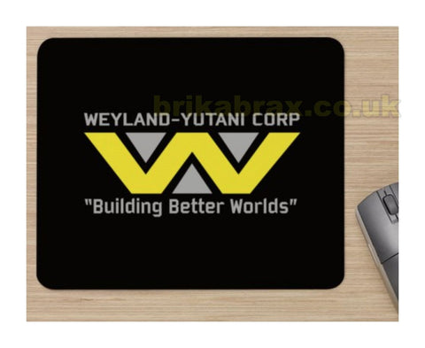 Unofficial Aliens Weyland Yutani Mouse Mat - Soft Mouse Mat With Logo On It New