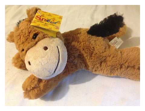 SUNKID PLUSH BEAN BAG SOFT TOY HORSE - GERMAN SOFT TOY - NEW TAGGED