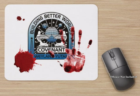 Unofficial Alien Covenant Gory Bloody Stained Printed Standard Mouse Mat New