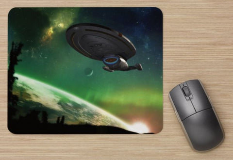 Unofficial USS Voyager Landing - Star Trek Inspired - Standard Mouse Mat - New