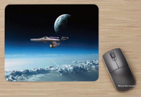 Unofficial Enterprise Low Orbit - Star Trek Inspired - Standard Mouse Mat New